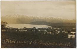Pgradec Et Le Lac D' Ochrida Ohrid Real Photo Cliché Militaire Reservé à La Cooperation Du 260 WWI Guerre 14 - Macédoine