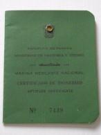 PANAMA - LIVRET CERTIFICAT D´APTITUDE De La MARINE MARCHANDE - 24 Mai 1978 - Jean PECAULT, Capitaine De Navire - A Voir! - Historical Documents