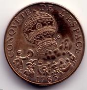 10 F Conquête De L'Espace 1783 (illustration Côté Pile : Nacelle De Ballon à Gaz) - Gedenkmünzen