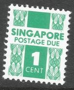 Singapore. 1978 Postage Due. 1c MH. SG D16a - Singapore (1959-...)