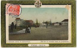 Nich Rue De La Citadelle Avec La Prefecture Stamped But Not Used - Serbie
