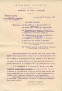 Lettre Circulaire Du Préfet Du Doubs Du 20 Décembre 1916  Interdiction Du Colportage De La Correspondance - Decrees & Laws