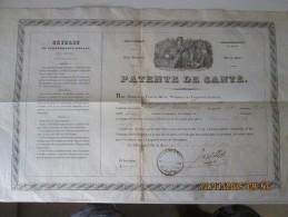 Royaume De FRANCE - 1839 PATENTE DE SANTE - Ville Du Havre - Navire Francais CASIMIR Pour Aller A BUENOS AIRES - Historical Documents