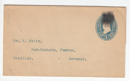 US Postal Stationery Stamped Wrapper Travelled To Bad Nauheim, Germany U294 Bb161110