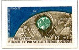 MISS226 - TAAF TERRE AUSTRALI ANTARTICHE FRANCESI - POSTA AEREA 1963 TELECOMUNICAZIONI   ***  MNH Spazio / Geofisico. - Nuovi