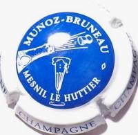 Munoz Bruneau N°1, Fond Bleu, Contour Blanc - Champagne