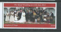 Tonga 2012 Crown Prince Royal Wedding $3 Single MNH - Tonga (1970-...)