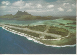"""Bora Bora - L'aérodrome, Sur L'ilôt """"Motu Mute"""", Construit Par Les Américains, Cliché Ancien, 1943 - - Polynésie Française"""