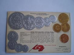 Egypte - Aegypten // Munzkarte - Coincard - Flagge // Embossed - Prage - Relief Ca 1900