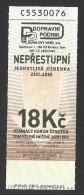 Czech Republic, Karlovy Vary, Imperial, Funicular Ticket, Used, - Tram