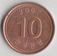 @Y@    Zuid Korea  10 Won   2007          (3895) - Coreal Del Sur