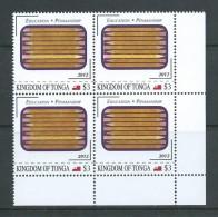 Tonga 2012 Education & Penmanship $3 Block Of 4 MNH - Tonga (1970-...)