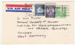 US Postal Stationery Postcard Travelled 1975 Ames, IA To Hannover, Germay UX55 Lincoln Bb161110