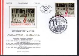 AUTRICHE    FDC    1988  Barbelés  Cimetiére Drapeau - Guerre Mondiale (Seconde)
