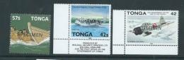 Tonga 1981 - 1992 3 Specimen Overprints MNH - Tonga (1970-...)