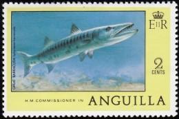 ANGUILLA - Scott #276 Great Barracuda / Mint NH Stamp - Anguilla (1968-...)