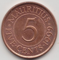 @Y@    Mauritius   5  Cents  1999        (3918) - Mauritius
