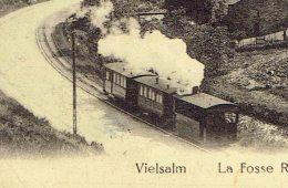 Vielsalm La Fosse Roulette Vue Sur Salm Chateau Tram Vapeur - Vielsalm