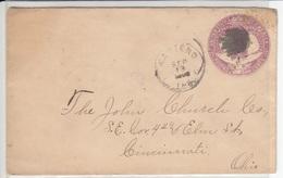 US Postal Stationery Stamped Envelope Travelled 1893 To Cincinnati, OH U349 Columbus And Liberty Bb161110