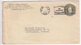US Postal Stationery Stamped Envelope Travelled 1928 Washington D.C. To Höchst Am Main, Germany U420 Franklin Bb161110