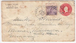 US Postal Stationery Stamped Envelope Travelled 1933 Deerfield, MA To Weimar, Germany U429 Washington Bb161110