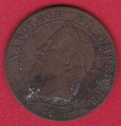 France 2 Centimes Napoléon III 1861 A - B. 2 Centimes