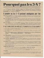 Pourquoi Pas Les  3x8 ,durée Du Travail - Old Paper
