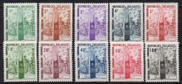 Madagascar - Taxe - 1962 - Yvert N° 41 à 50 **  - Stèle De L'Indépendance - Madagascar (1960-...)