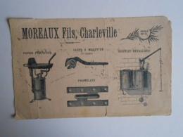 Buvard Ancien  1920 Outillage  Sté MOREAUX Fils à  CHARLEVILLE Mézières  ( Ardennes 08 ) - Blotters