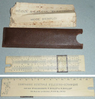 Rare Ancien Abaque Règle à Calculer/conversion ELECTRIC, En étui Avec Notice - Sonstige