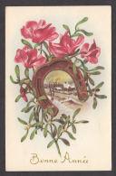 N30047/ Bonne Année, Fleurs, Paysage, Cyclamens, Fer à Cheval - Nieuwjaar