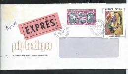 Lettre Avec N° 47 Avec Complément Du N° 2137  Par EXPRES - 1960-.... Lettres & Documents