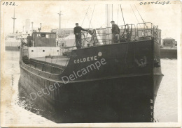 D6509 OOSTENDE OSTENDE FOTO Engelse  ENGLISH COASTER  COLDEVE In Haven 1952 - Non Classés
