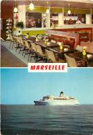 -ref-T503- Bouches Du Rhone - Marseille - Hall De La Gare Maritime Et Paquebot Napoleon - Gares Maritimes - Paquebots - - Altri