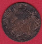 France 2 Centimes Napoléon III 1862 A - France