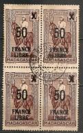 Timbres - France (ex-colonies Et Protectorats) - Madagascar -  France Libre - 4 X 50 C - N° 258 - Surchargé - - Madagascar (1889-1960)