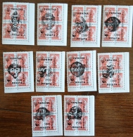 RUSSIE-URSS  Gorilles, Singes, Serie 10 Valeurs De 1995.  Neuf Sans Charniere, MNH. Kharkov - Gorilles