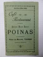 Indicateur Des Chemins De Fer Paris-Cézanne été 1913 Avec Une Publicité Du Café Restaurant POINAS, Tournan - Europe