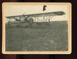 THMS2 Aviation. Photo Format 9x12 Cm Sur Support Cartonné. Avion Et Son Pilote - Avions