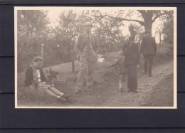 Carte Photo Famille ( Housse , ) (enfant Avec Publicité  Dubonnet - Blégny