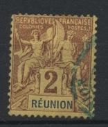 REUNION: - N° Yvert 33 OBLITERE - Reunion Island (1852-1975)