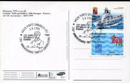 15834 Italia, Special Postmark 1999 Porto Garibaldi, 150^ Anniversario Trafila Garibaldina - Altri