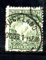 T1030 - NUOVA ZELANDA , Wmk NZ + Star . Dent 14 . Usato - 1855-1907 Crown Colony