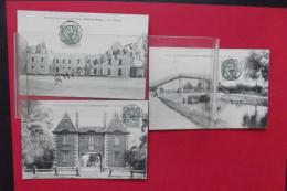 C P Romilly Sur Seine Lot 3 Cartes Le Pont-  Le Chateau- Le Pavillon - Romilly-sur-Seine