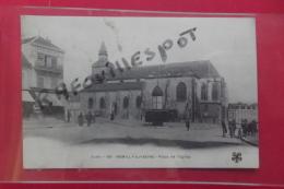 C P Romilly Sur Seine Place De L'eglise Animé N 60 - Romilly-sur-Seine