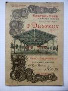 """61 - Canapville - Triptyque Rigide  ,publicité """"Carton-cuir Et Carton Bitumé Pour Toitures"""" - P.DESFEUX , Mars 1893 - Publicités"""