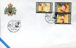15840 San Marino,  Special Postmark 1995,  Centenary Of Cinema, Comics, Movie, Film