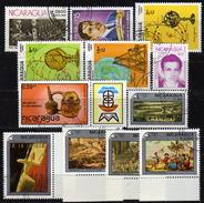 NICARAGUA 1985-1990 - Lot 12 Verschiedene  Used - Nicaragua