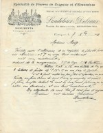 MOMIGNIES : Lettre à Entête LAUDELOUT DELVAUX - Monuments Funeraires - Route De Beauwelz - 1924 - Belgique