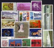KANADA 1970-1979 Lot 21 Verschiedenen Und Kmpl. Ausgaben Used - 1952-.... Elizabeth II